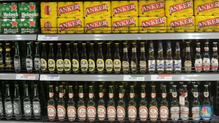 enerimaan yang berasal dari minuman mengandung ethil alkohol (MMEA) menjadi satu dari jenis penerimaan yang tak capai target.