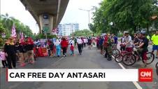 Car Free Day Pertama di Jalan Antasari