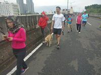 Ribuan warga memenuhi 4,8 kilometer JLNT Antasari memanfaatkannya untuk olahraga lari, jalan santai, dan bersepeda. (Foto: Firdaus/detikHealth)