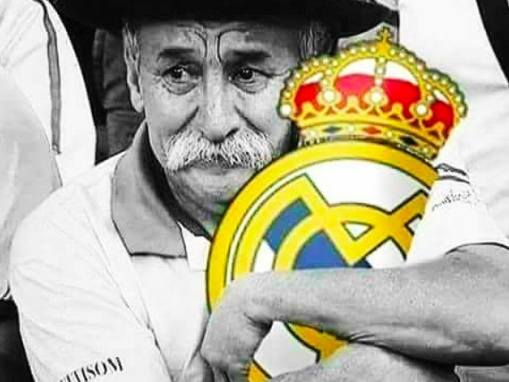 Fans Madrid digambarkan sangat sedih melihat nasib klubnya. Foto: istimewa