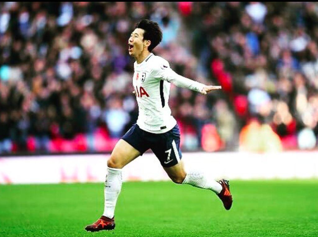 Son saat ini adalah pemain Asia tersubur di Premier League dengan total 26 gol. Mengalahkan raihan Park Ji Sung yang juga rekan senegaranya. Foto: Instagram