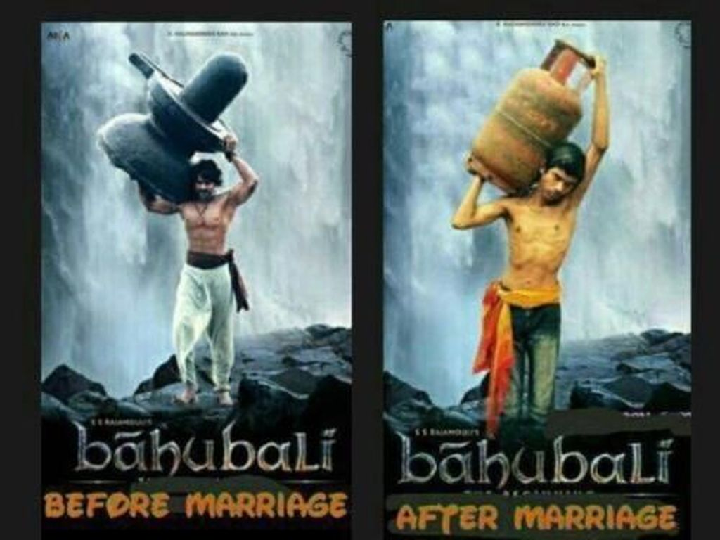 Karakter kuat di sebuah film India terkenal ini setelah menikah digambarkan harus membawa gas untuk memasak. Foto: istimewa