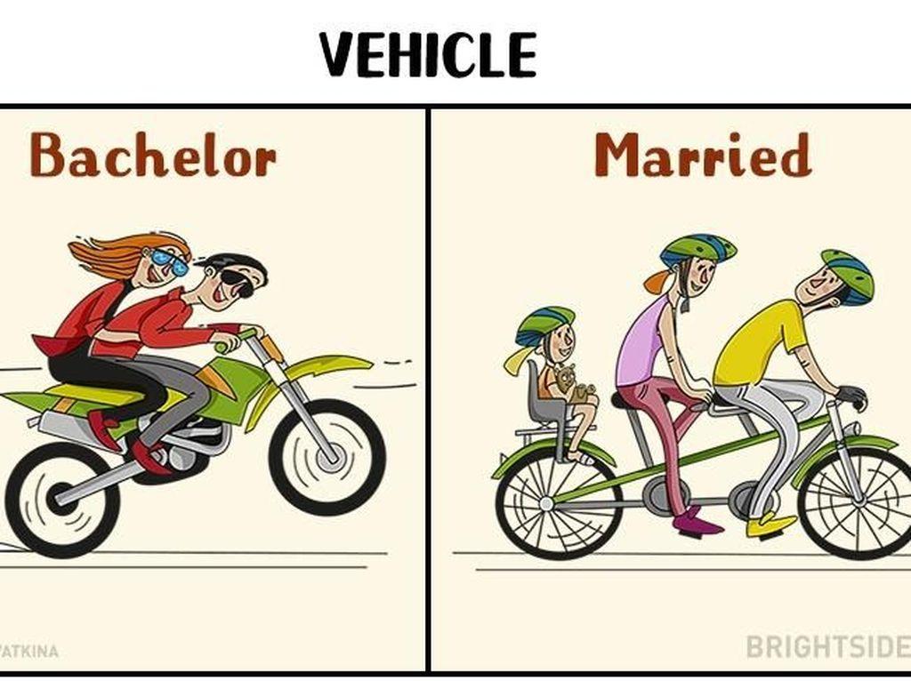 Sebelum menikah bisa gaya kebut-kebutan. Setelah menikah lebih memilih menghabiskan waktu dengan bersepeda santai bersama anak. Foto: istimewa