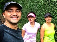 Anjasmara juga rutin olahraga aerobik seperti berlari untuk membakar lebih banyak kalori. (Foto: Instagram/anjasmara)