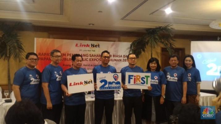 PT Link Net Tbk (LINK) menganggarkan belanja modal atau capital expenditure (capex) senilai Rp 1,5 triliun.