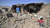 Peru adalah negara penghasil tembaga terbesar kedua di dunia. Namun, banyak tambang yang berada di selatan negara tersebut berlokasi jauh dari pusat gempa. (REUTERS/Diego Ramos)
