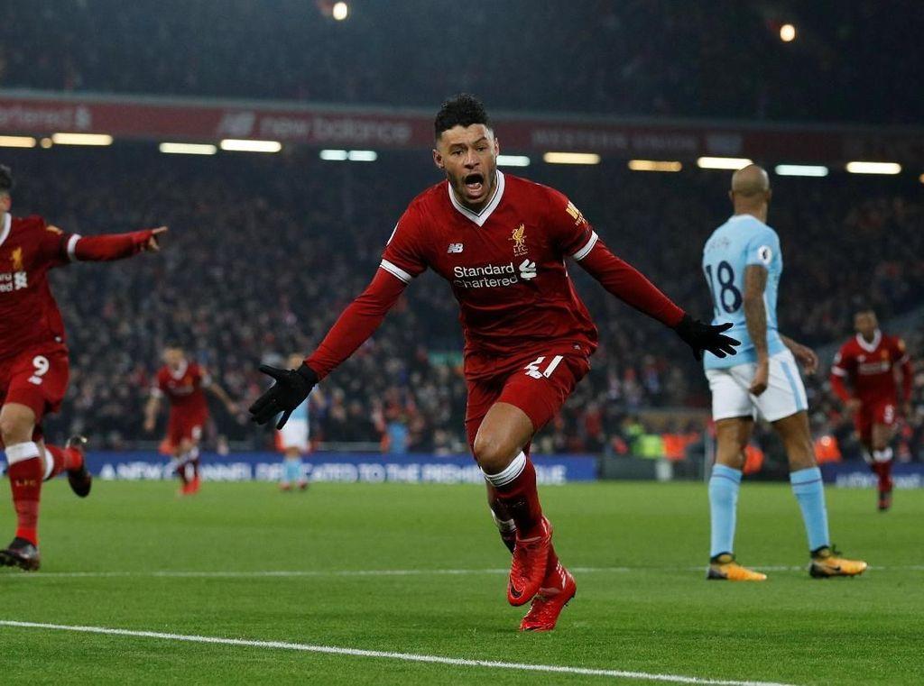 Liverpool 4–3 Manchester City (14 Januari 2018). City menelan kekalahan pertamanya di Premier League musim ini, lewat drama tujuh gol di Anfield. Hasil itu memberi ujian buat City untuk bangkit. (Foto: Phil Noble/Reuters)