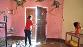 Gempa berkekuatan 7,1 skala richter mengguncang pesisir selatan Peru menewaskan satu orang, melukai puluhan lain dan merusak infrastruktur pada Minggu pagi. (REUTERS/Diego Ramos)