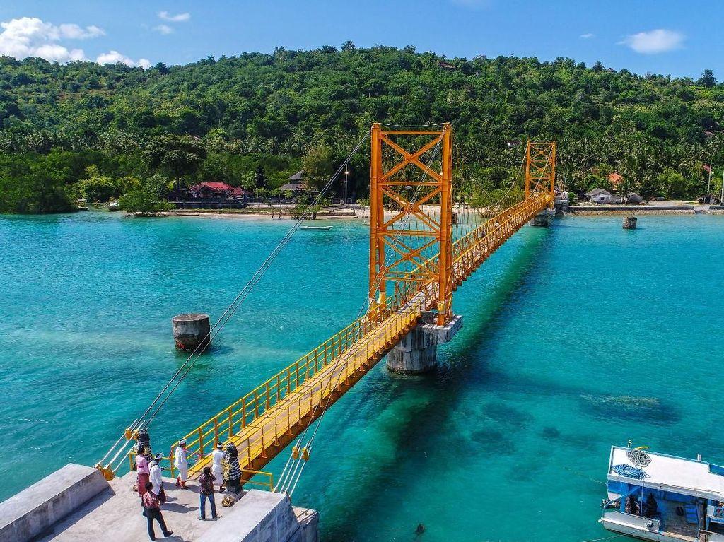 Jembatan Cinta memiliki panjang 138 meter dan lebar 18 meter. Dok PUPR/Ditjen Bina Marga.