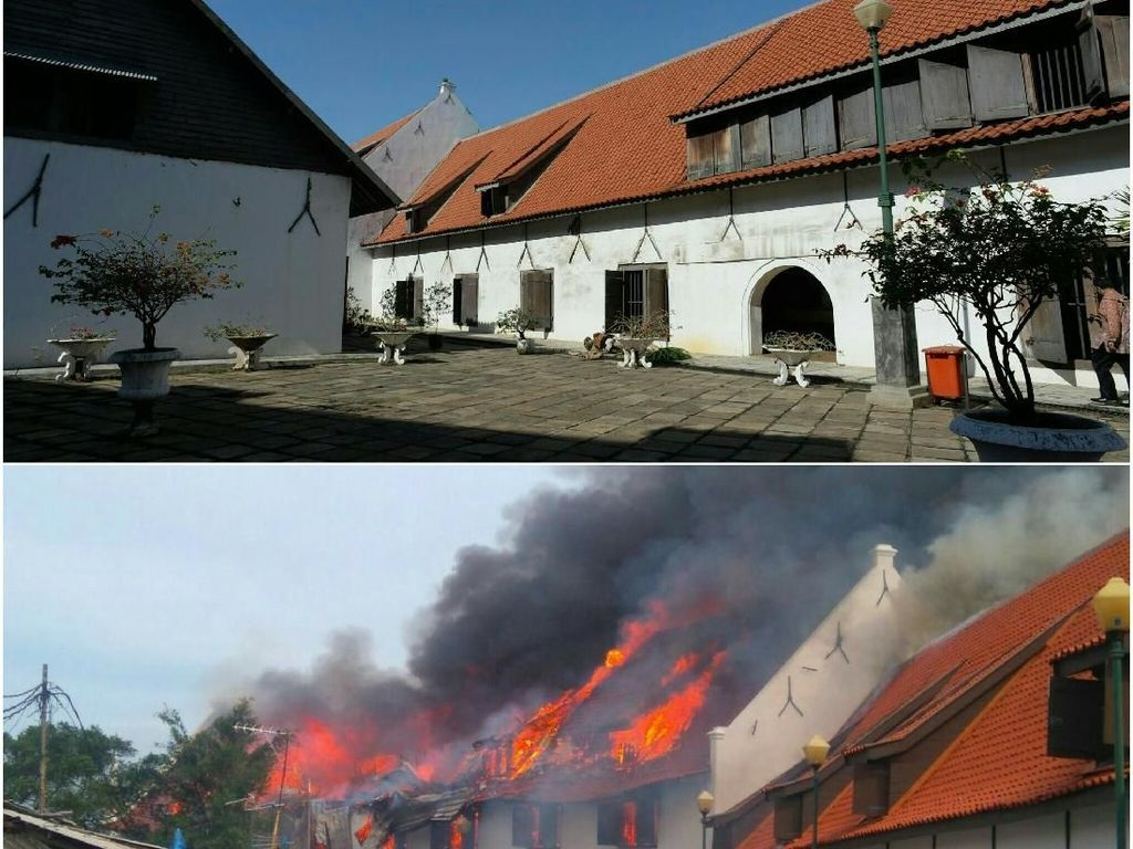 Before-After Museum Bahari yang Terbakar