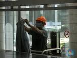 Plafon Gedung Bursa Efek Indonesia Kembali Rubuh