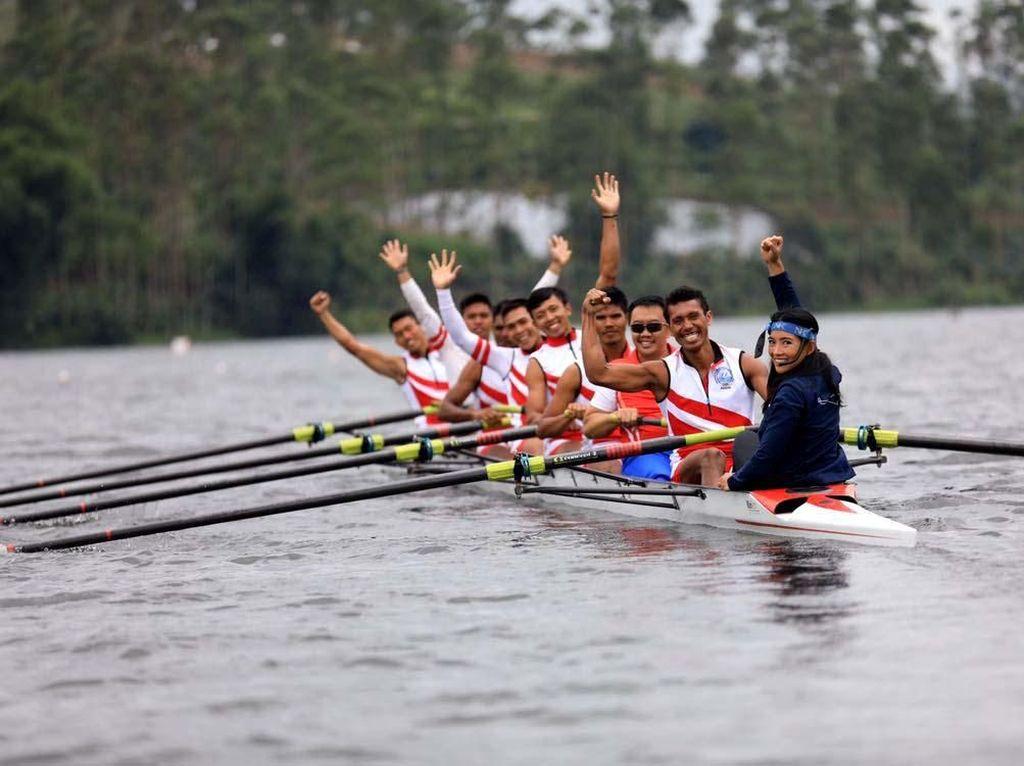 Timnas Rowing Mengasah Kecepatan di Pangalengan
