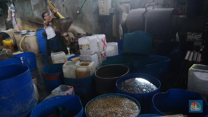 Hingga saat ini harga kedelai impor masih dinilai stabil bagi pengusaha dan perajin tahu.