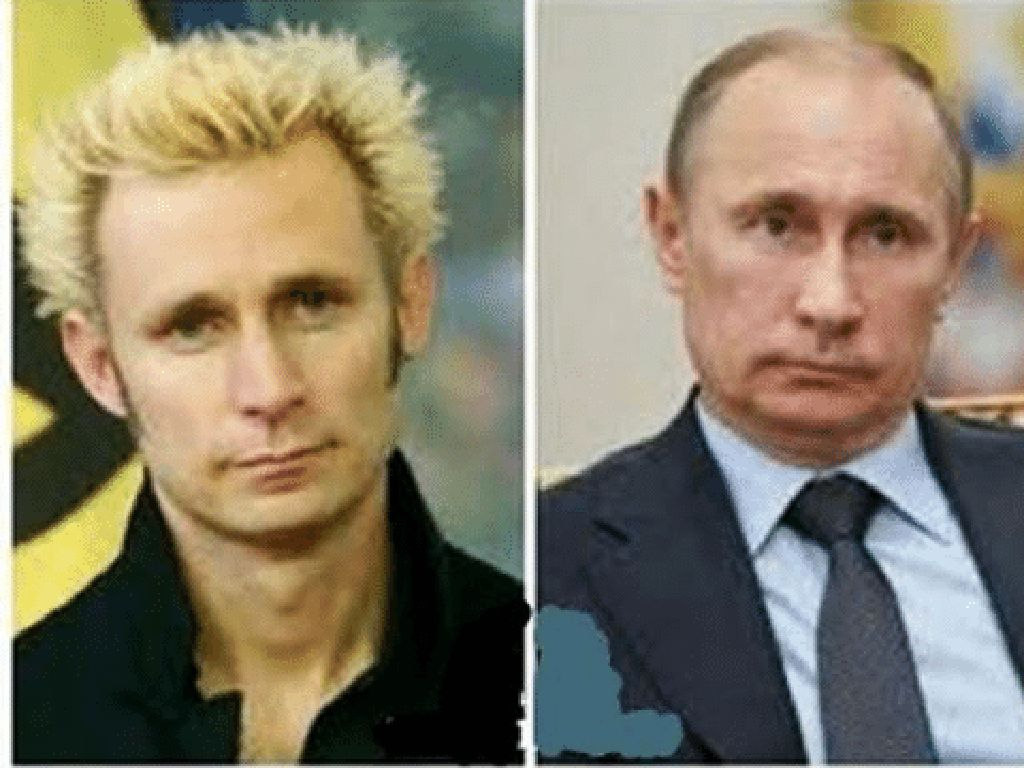 Bassist Green Day disebut Mirip Vladimir Putin, Setuju?