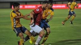 Babak Pertama: Bali United Unggul 2-1 Atas Yangon United