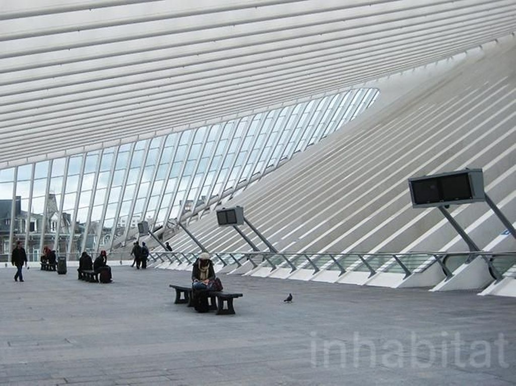 Stasiun ini terlindungi oleh kanopi besar dengan tinggi sekitar 144 meter di atas 5 jalur kereta api. Istimewa/Inhabitat.