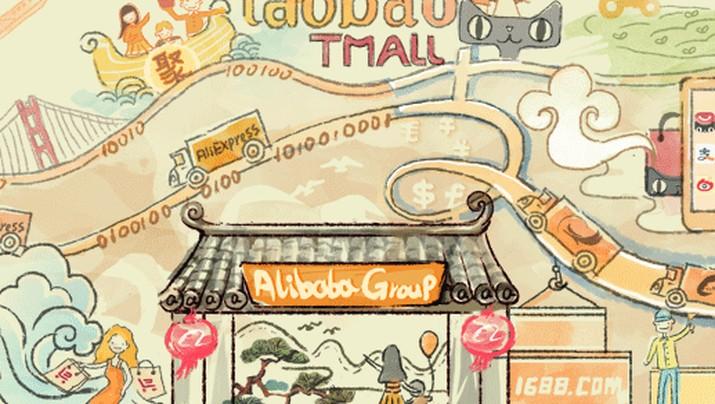 Alibaba, perusahaan e-commerce terbesar di China selama 2017 telah menutup 240.000 toko online di 2017.