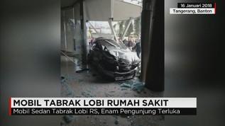 Mobil Tabrak Lobi Rumah Sakit