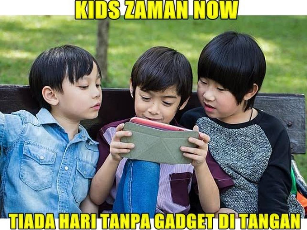 Meme Ngenes Kids Zaman Now vs Kids Zaman Old