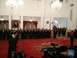 Presiden Reshuffle Kabinet dan Lantik Pejabat Negara
