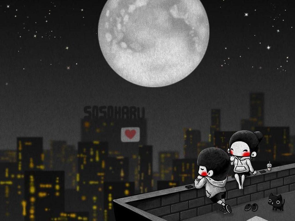 Awas Baper! Ilustrasi Manis Ini Gambarkan Kehidupan Pasangan Romantis