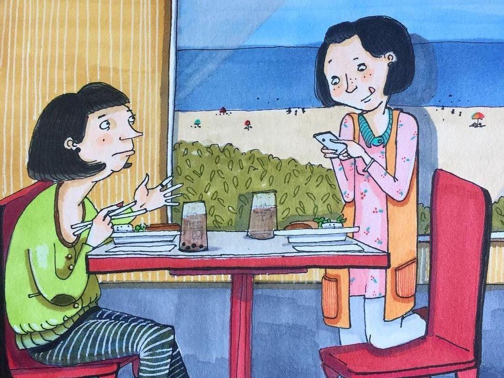 9 Ilustrasi Kreatif Ini Gambarkan Indahnya Kehidupan Persahabatan Wanita