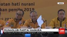 Munaslub Partai Hanura Pecat Oesman Sapta Odang dari Ketum