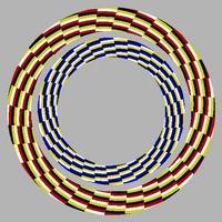Melihat ada yang bergerak dari gambar ini? Yap, ini adalah kerja dari ilusi optik yang mengacaukan sinyal yang diterima mata dan yang disampaikan ke otak. (Foto: doodlechallenge.com)