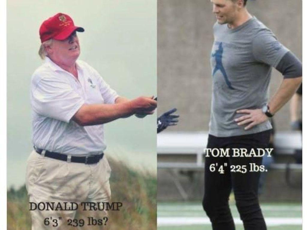 Foto: Meme Kocak Soal Berat Badan Trump Ramai di Internet