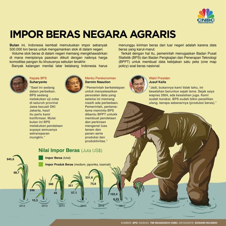 Indonesia memastikan impor beras sebagai solusi untuk menjaga pasokan dan menekan harga komoditas itu di dalam negeri