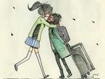 9 Ilustrasi Ini Gambarkan Manisnya Momen Bertemu Pasangan Setelah Jalani LDR