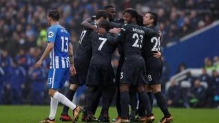 Chelsea Permalukan Brighton & Hove Albion 4-0