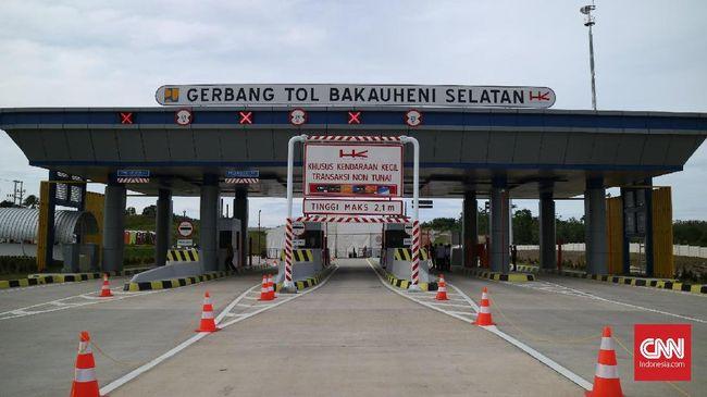 Tol Pertama di Lampung Bisa Dinikmati Gratis Dua Minggu