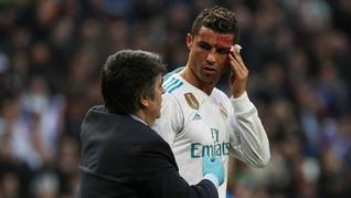 Viral, Ronaldo Berkaca Saat Pelipis Bocor
