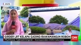 INSIDEN GIRDER LRT KELAPA GADING-RAWAMANGUN ROBOH