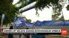 Girder LRT Ambruk pada Senin Dini Hari