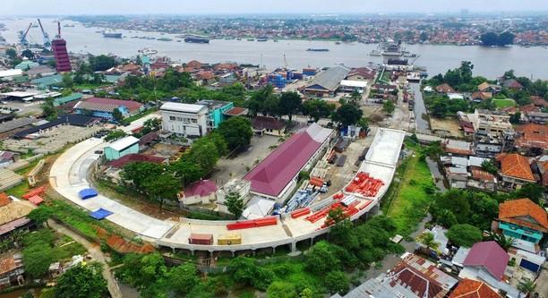 Difoto Pakai Drone, Ini Proyek Jembatan Musi IV di Palembang