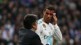 Ronaldo Latihan Bersama Real Madrid dengan Mata Bengkak