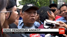 Demonstrasi Supir Angkutan Umum