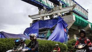 Konstruksi LRT Roboh saat Proyek Dikebut Kejar Deadline