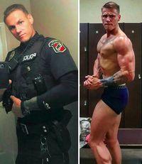 Lantas, apa sih rahasia polisi-polisi tampan tersebut punya otot-otot yang kekar? Foto: Instagram @policemuscle