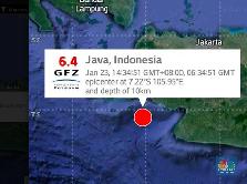 Gempa di Banten 6.4 SR, Terasa Sampai Jakarta