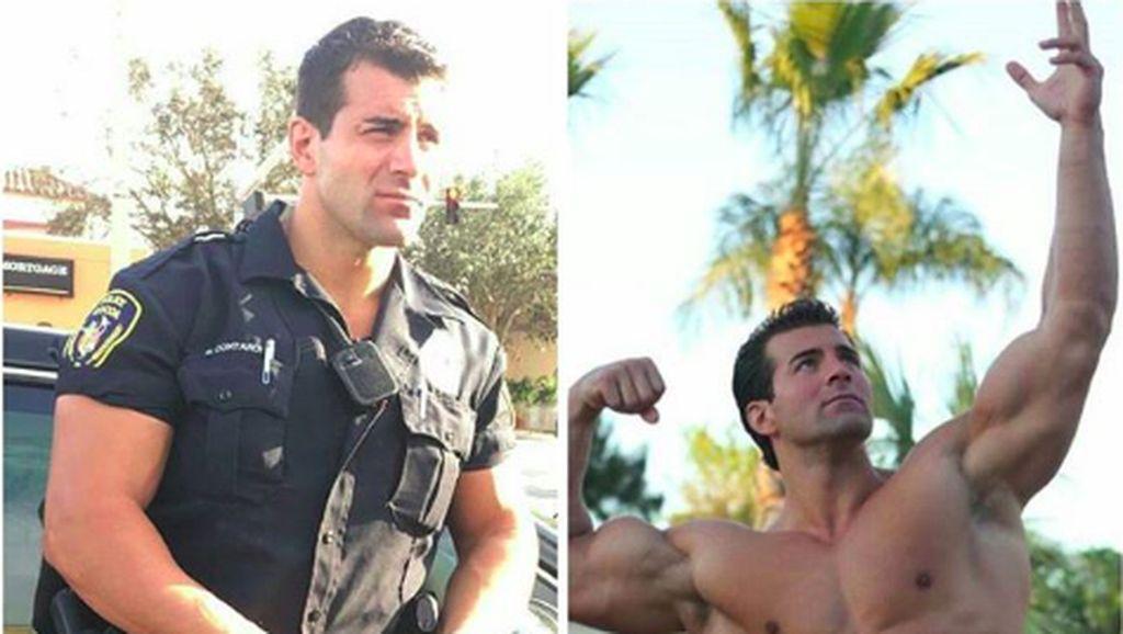 Potret Polisi-polisi Tampan yang Bertubuh Kekar