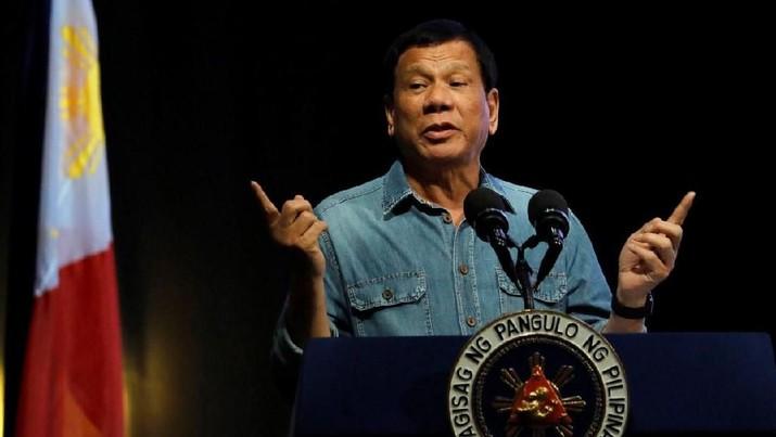Duterte mengumumkan hal tersebut dalam pidatonya di TV nasional, Rabu (1/4/2020) malam.