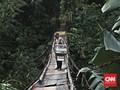 Kementerian PUPR Bangun 134 Jembatan Gantung di Tahun Ini