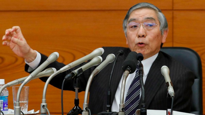 Pemerintah Jepang kembali mengajukan nama Haruhiko Kuroda sebagai Gubernur Bank Sentral Jepang (BoJ).