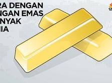 Deretan Negara dengan Cadangan Emas Terbanyak di Dunia
