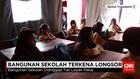 Sekolah Longsor, Siswa Belajar di Tenda