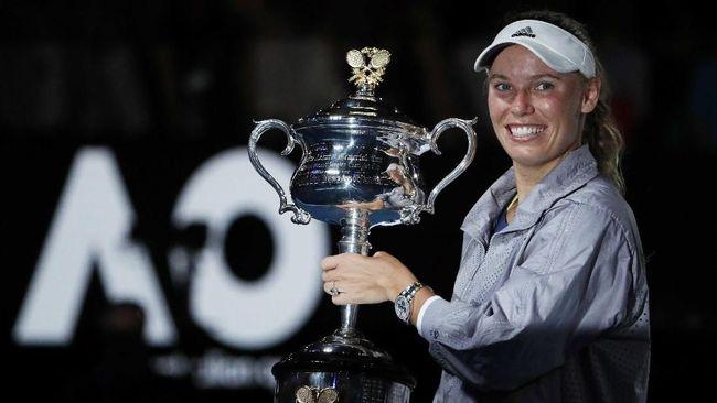 Tumbangkan Halep, Wozniacki Juara Australia Terbuka 2018