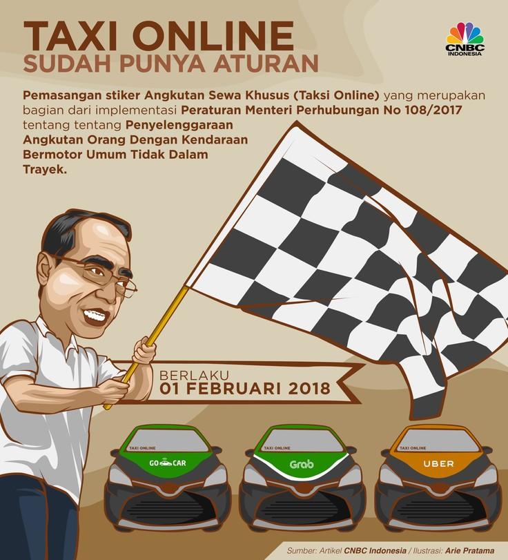 Payung Hukum Taksi Online Berlaku Februari